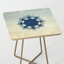 Lotus Mandala Sand Water Wash Side Table