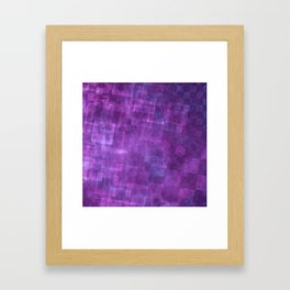 Abstract Purple Squares Digital Painting Framed Art Print
