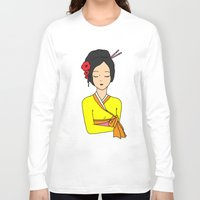 korean Long Sleeve T-shirts featuring Korean Maiden by RaJess