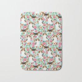 Beagle Floral dog design cute florals beagle phone case beagle pillows Bath Mat
