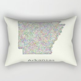 Arkansas map Rectangular Pillow