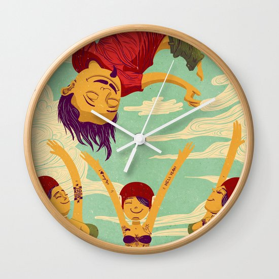 Tapete Voador Wall Clock