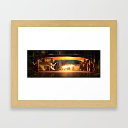 A losing battle Framed Art Print