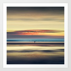 Along Memory Lines - Abstract Seascape Art Print