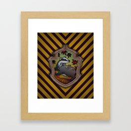 Hogwarts House Crest - Hufflepuff Framed Art Print