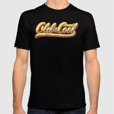 Old is Cool 2X-LARGE Black Mens Fitted Tee