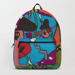 Fairytale Mushroom Village Backpack