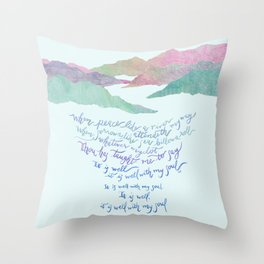 It Is Well With My Soul-Hymn Throw Pillow