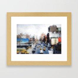 Hell's Kitchen scratchy Framed Art Print
