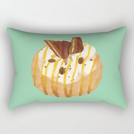 Tim Tam and Coffee Donut Polygon Art Rectangular Pillow