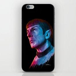 "Homage to Leonard Nimoy - Mr. Spock ""Star Trek"" (colored version) iPhone Skin"
