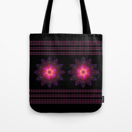 Abstract purple flower 06 Tote Bag