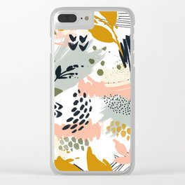 Abstract strokes still life Clear iPhone Case