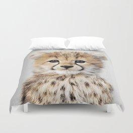 Baby Cheetah - Colorful Duvet Cover