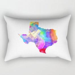 Texas Watercolor Rectangular Pillow