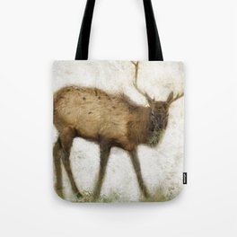Grand Canyon Elk No. 2 Wintered Tote Bag