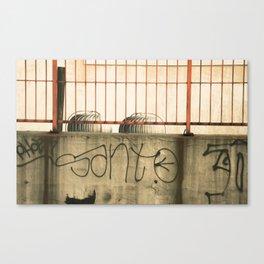Brooklyn Rooftop Grafitti. USA. Canvas Print