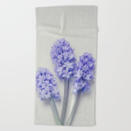 Bright Lilac Hyacinths Beach Towel