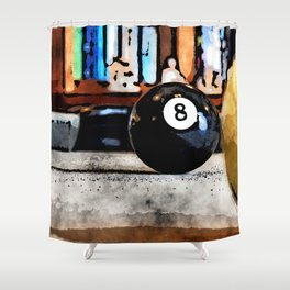 Shooting For The Eight Ball Shower Curtain