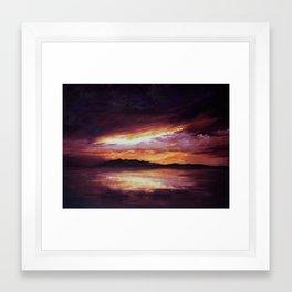 Arran Sunset Framed Art Print