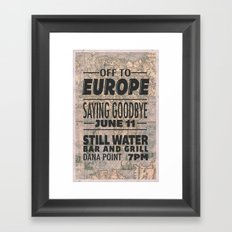Off To Europe Framed Art Print