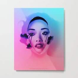 Pretty When You Cry (Milk Bath, Beautiful, Sexy, Asian Art) Metal Print