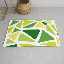 Green and yellow shapes Rug