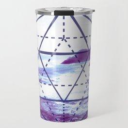 The Elements Geometric Nature Element of Water Travel Mug