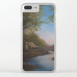 Solitary Man Clear iPhone Case