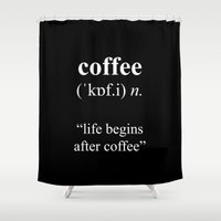 coffee Shower Curtains featuring Coffee by cafelab