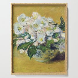 Claude Monet - Christmas Roses Serving Tray