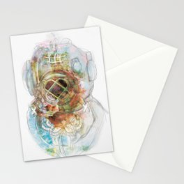 Deep Diver Suit Stationery Cards
