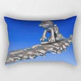 Silver Smurfer Rectangular Pillow