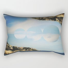 between the islands. Rectangular Pillow