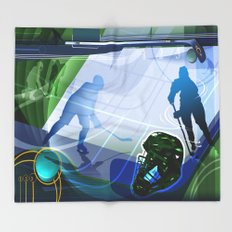 Hockey Throw Blanket