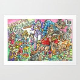 Eighties Toypocalypse  Art Print