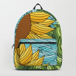 SUNNY DAY (abstract flowers) Backpack