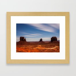 Bright Night at Monument Valley Framed Art Print