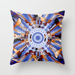 Caged Sapphire Nova Abstract Throw Pillow