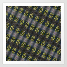 Brass Knuckles Pattern Art Print