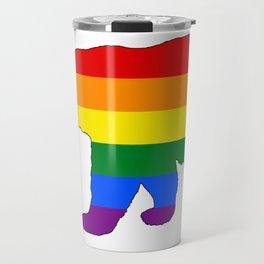 Rainbow Polar Bear Travel Mug
