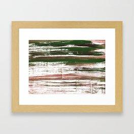 Kombu green abstract watercolor Framed Art Print