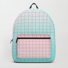 Millennial Pink and Light Blue Geometry Backpack
