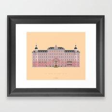 Budapest Hotel Framed Art Print