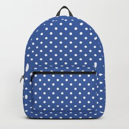 Blue With White Dots Backpack