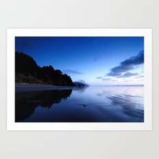 Oregon Beach at Sunset Art Print