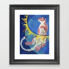 Happy Tiger Framed Art Print