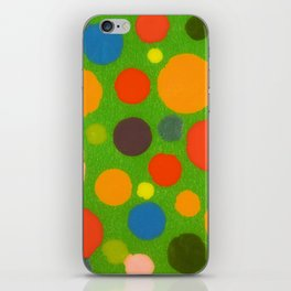Untitled, multi-color dots iPhone Skin
