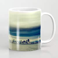 seattle Mugs featuring Seattle by FrancisDelapena.com