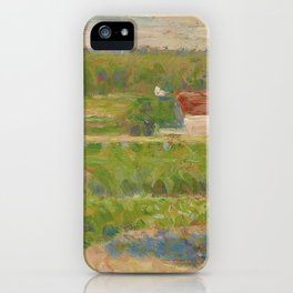 "Georges Seurat ""La Maison au toit rouge"" iPhone Case"